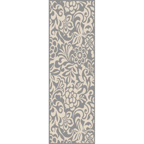 Barnsley Gray/Cream Indoor/Outdoor Area Rug by Highland Dunes