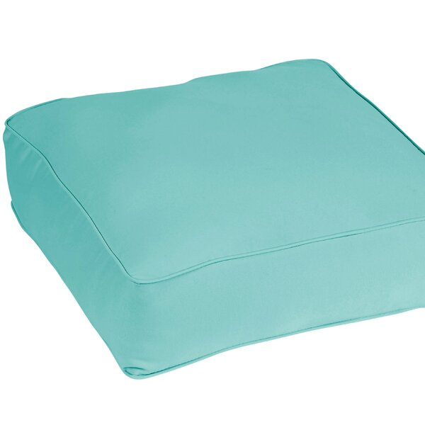 Caravel Square Indoor/outdoor Floor Pillow By Breakwater Bay.