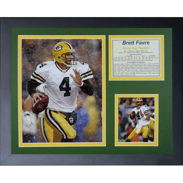 Brett Favre Away Framed Photographic Print by Legends Never Die
