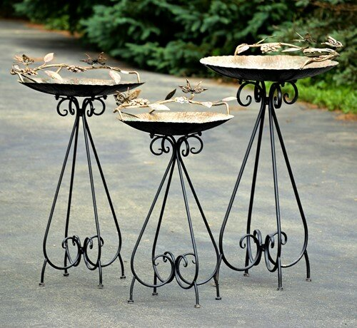 Birdbaths with Butterflies by Zaer Ltd International
