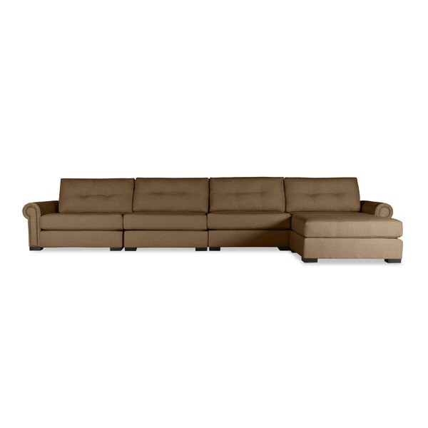 Willia Buttoned Sectional by Three Posts