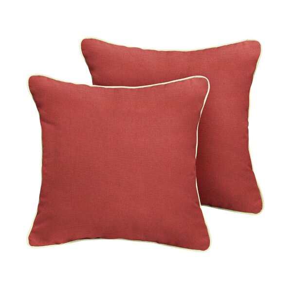Curcio Sunbrella Canvas Henna Outdoor Throw Pillow (Set of 2) by Red Barrel Studio
