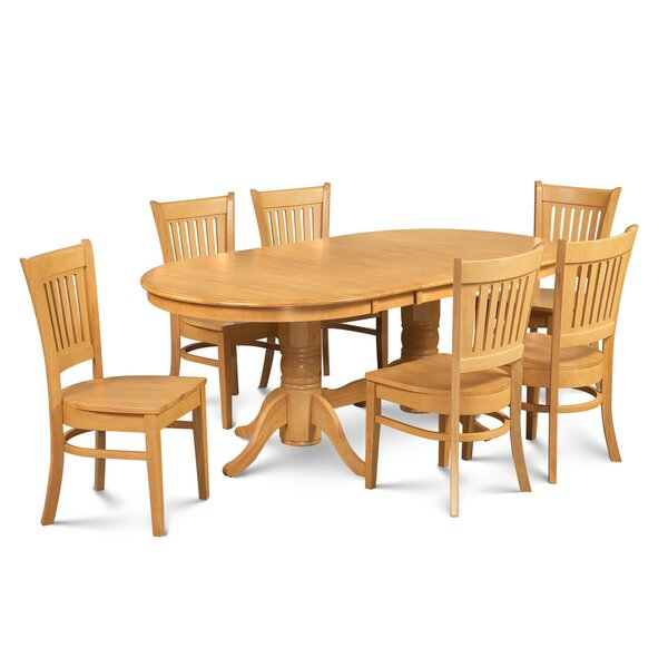 Schacht Traditional 7 Piece Extendable Solid Wood Dining Set by Winston Porter