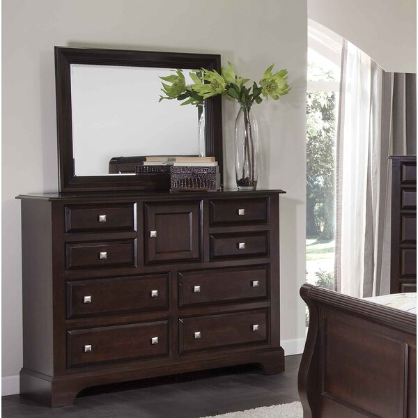 Gavril 8 Drawer Combo Dresser with Mirror by Charlton Home