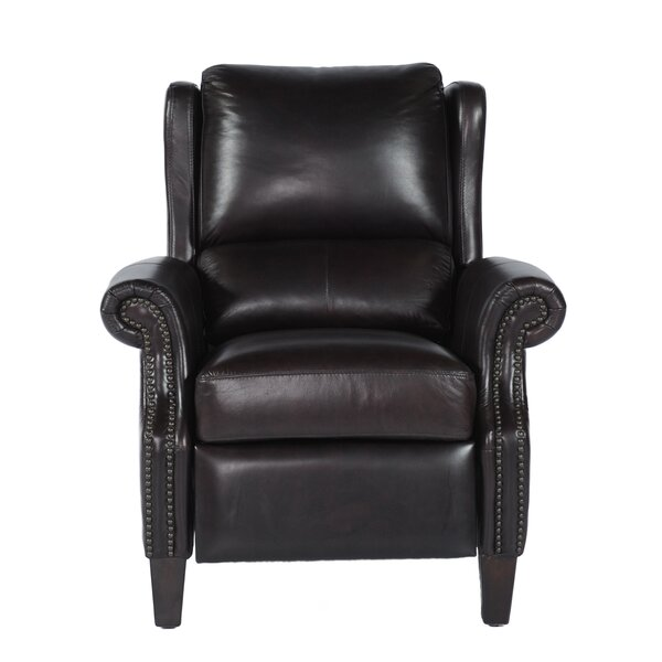 Mobley Bustle Back Leather Manual Recliner by Canora Grey
