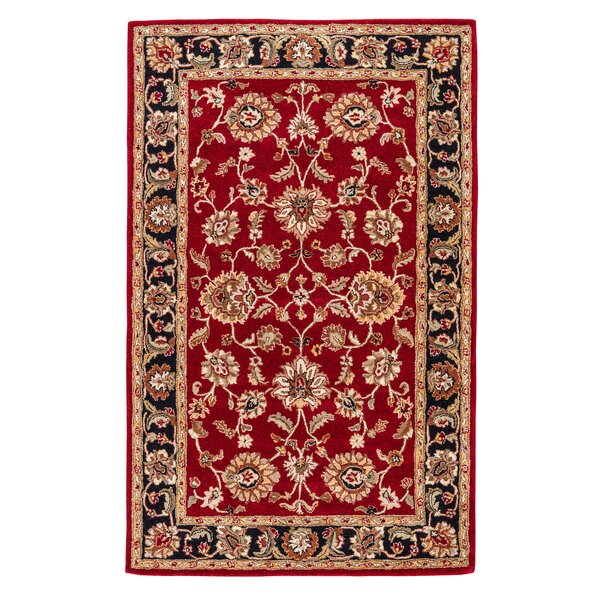 Hand-Tufted Red Area Rug by Birch Lane™