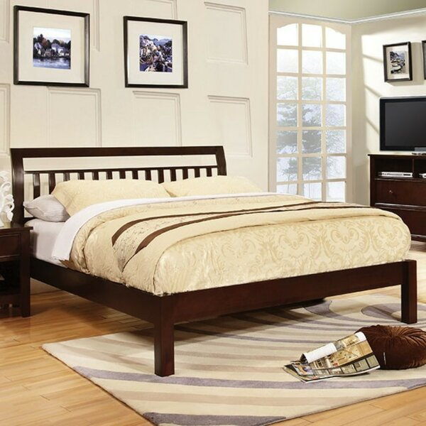 Chaparosa Slatted Headboard Sleigh Platform Bed by Ebern Designs