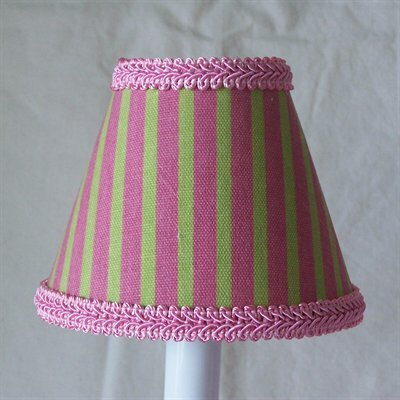 Jack and Jill 4 H Fabric Empire Candelabra Shade ( Clip On ) in Pink/Green