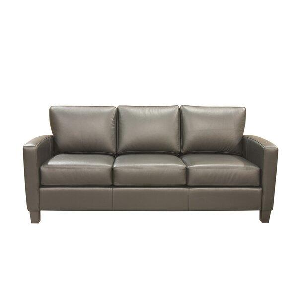 Suzanna Leather Sofa by Latitude Run