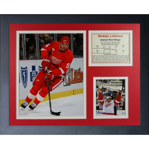 Nicklas Lidstrom Framed Memorabilia by Legends Never Die