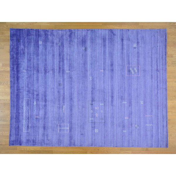 One-of-a-Kind Becker Art Handwoven Purple Silk Area Rug by Isabelline