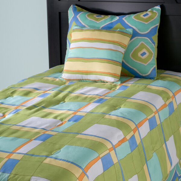 Kids Plaid 3 Piece Comforter Set by Wildon Home ®