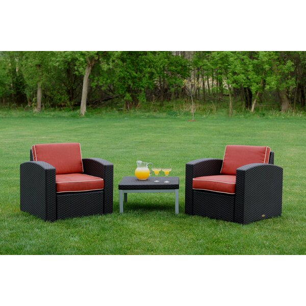 Loggins 3 Piece Seating Group with Cushions by Brayden Studio