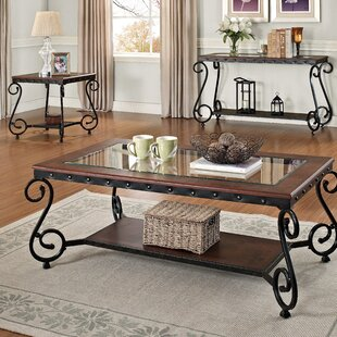 Compare prices Lehmann 3 Piece Coffee Table Set ByDarby Home Co