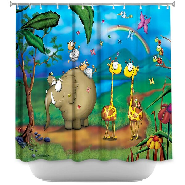 Jungle Party Shower Curtain by East Urban Home