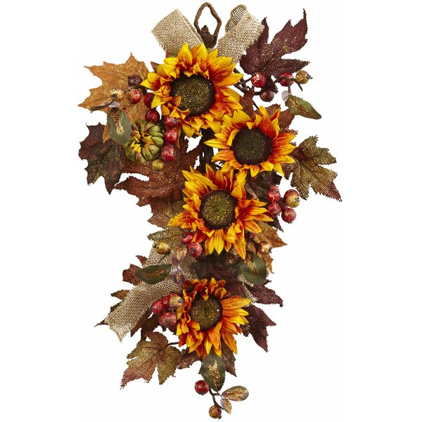 Sunflower and Berry Swag by Nearly Natural