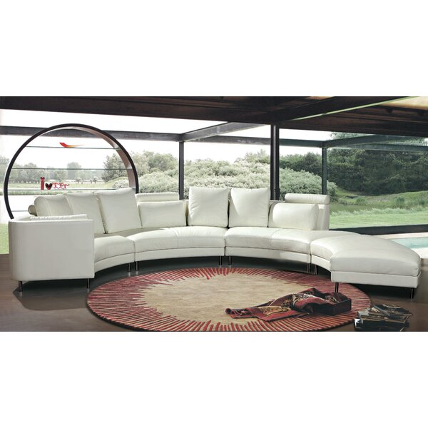 Carnelian Sectional with Ottoman by Hokku Designs