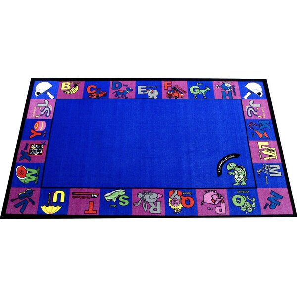 Alphabet Charlie Blue/Pink Area Rug by Kids World Carpets