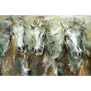 'Wild Ride Three II' Painting Print on Wrapped Canvas by Loon Peak