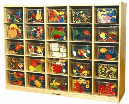 25 Compartment Cubby by A+ Child Supply