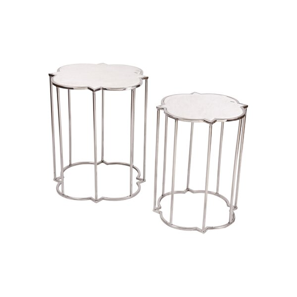 Azka 2 Piece Nesting Tables by Fashion N You by Horizon Interseas