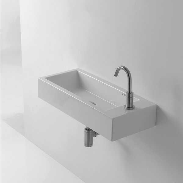 Whitestone Hox Ceramic 28 Wall Mount Bathroom Sink by WS Bath Collections