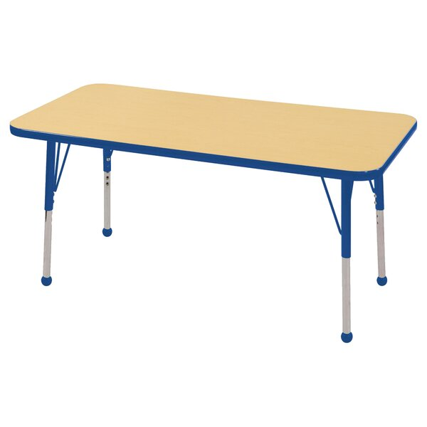 Maple Top Thermo-Fused Adjustable 24 x 48 Rectangular Activity Table by ECR4kids