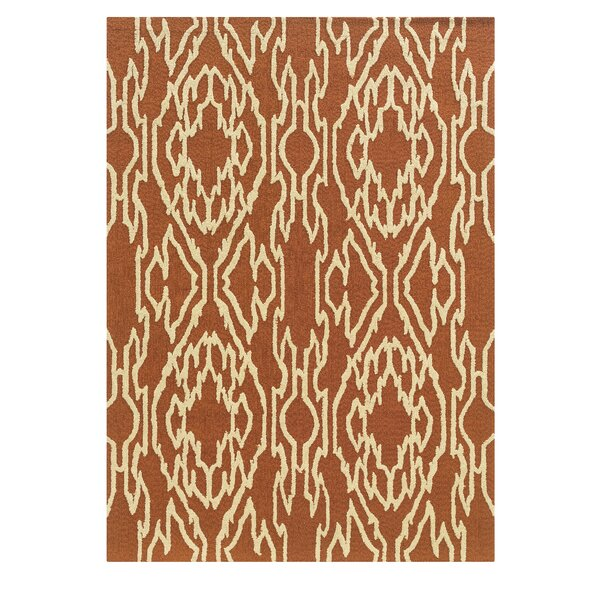 Savanah Hand-Tufted Brown/Ivory Outdoor Area Rug by Winston Porter