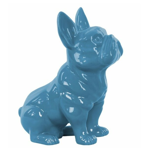 Hanley Ceramic Sitting French Bulldog with Pricked Ears Figurine by Wrought Studio