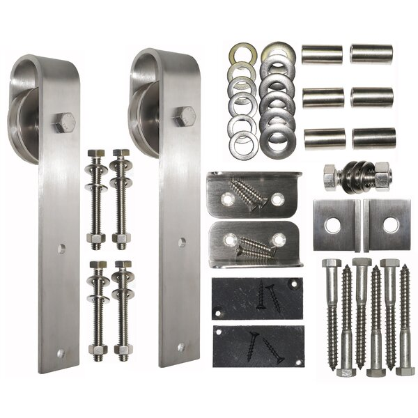 Stainless Steel Square End Rolling Hardware by Acorn