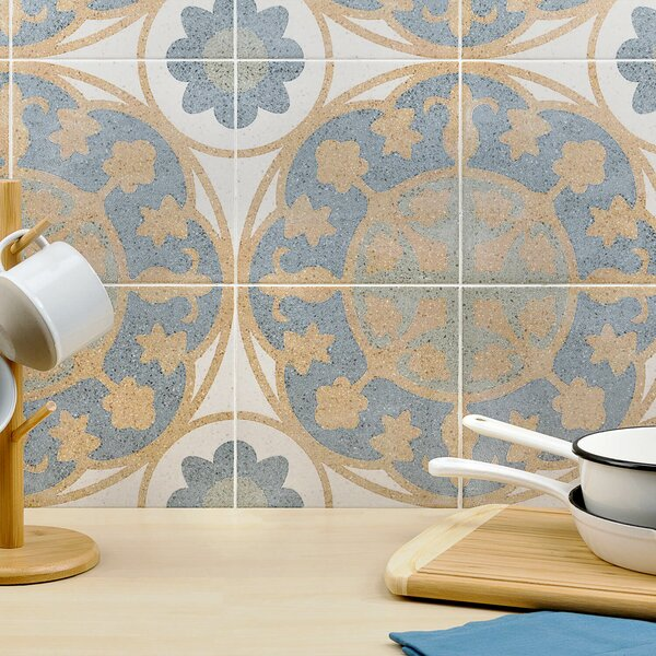 Branwell 9 x 9 Porcelain Field Tile in Fontana Oro by Splashback Tile