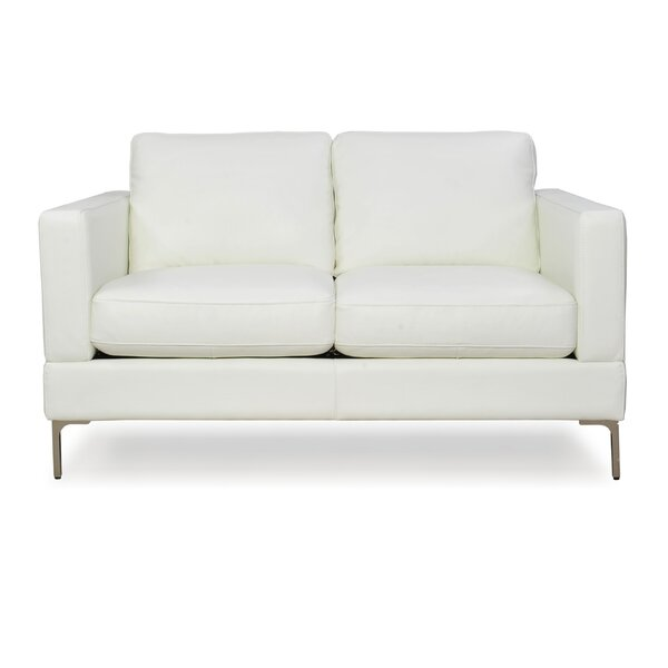 Kathrin Leather Loveseat by Orren Ellis Orren Ellis