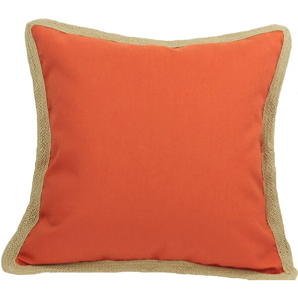 Classic Jute Trimmed Solid Throw Pillow by Xia Home Fashions