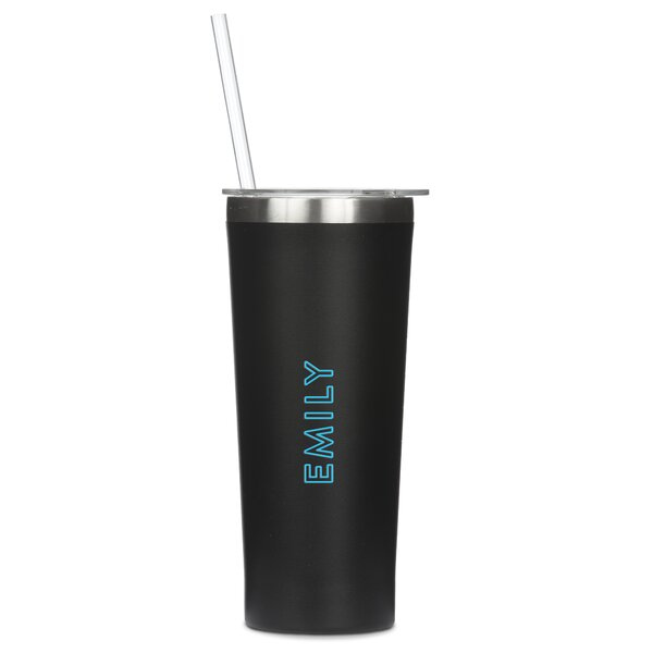 Starrett Personalized  Summer Vibes Print 22 oz. Stainless Steel Travel Tumbler by Ebern Designs