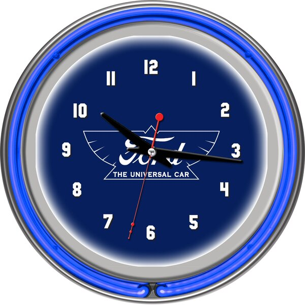 Ford the Universal Car 11 Double Rung Neon Clock by Trademark Global