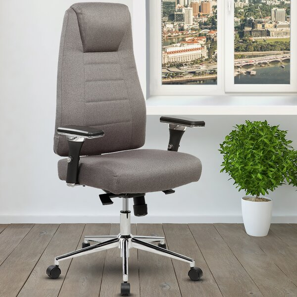 Henson Height Adjustable Executive High-Back Home Office Chair with Wheels by Ivy Bronx