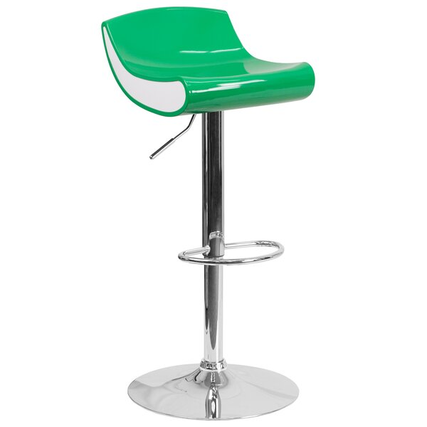 Brescia Adjustable Height Swivel Bar Stool by Ebern Designs