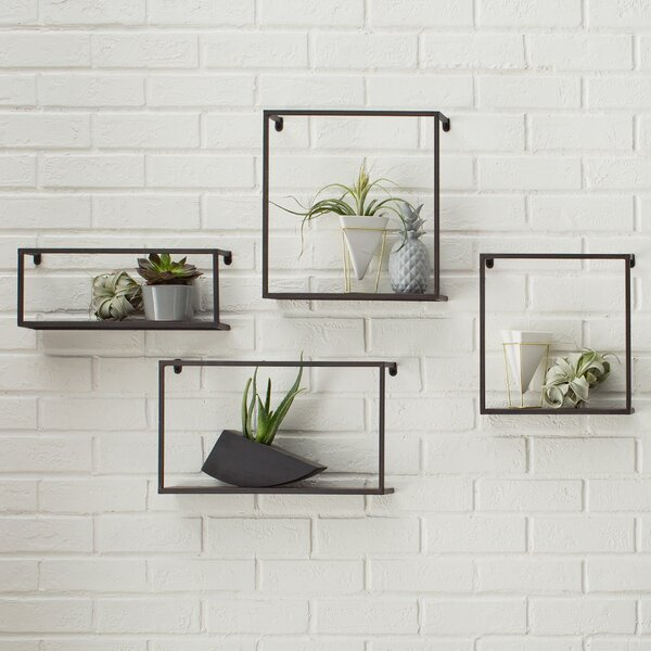 4 Piece Zyther Metal Wall Shelf Set by Holly & Martin