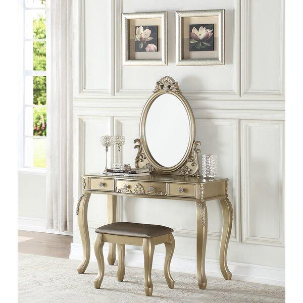 Caden Vanity Set with Mirror by Astoria Grand Astoria Grand