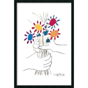 'Fleurs et Mains' by Pablo Picasso Framed Painting Print by Viv + Rae