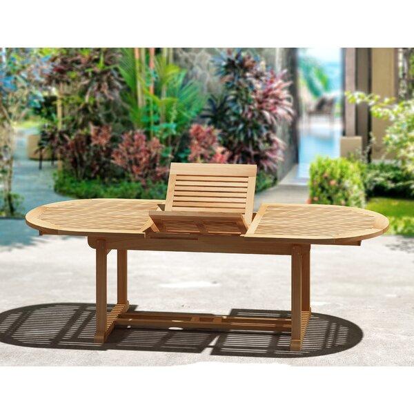 Stringer Teakwood Extendable Solid Wood Dining Table by Loon Peak