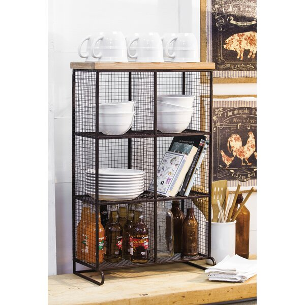 Clairlea Wire Mesh 6 Bin Cube Unit bookcase by Laurel Foundry Modern Farmhouse