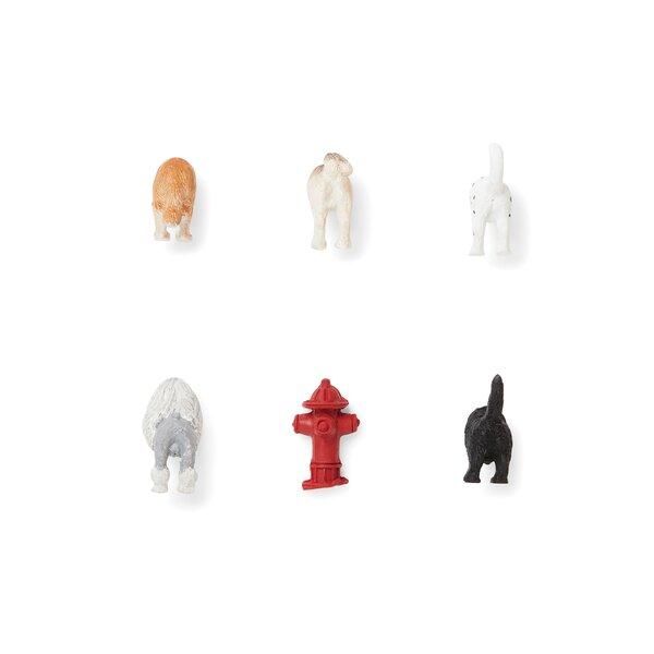 6 Piece Dog Butt Magnet Set by Fox Run Brands