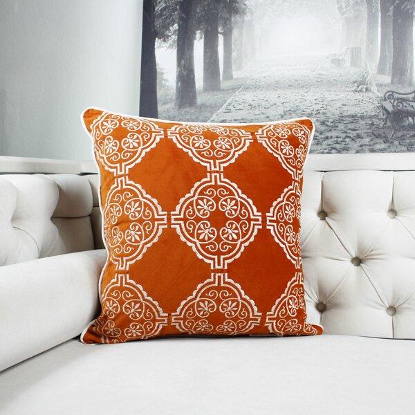 Fallinerlea Embroidery Indoor/Outdoor Throw Pillow by Canora Grey