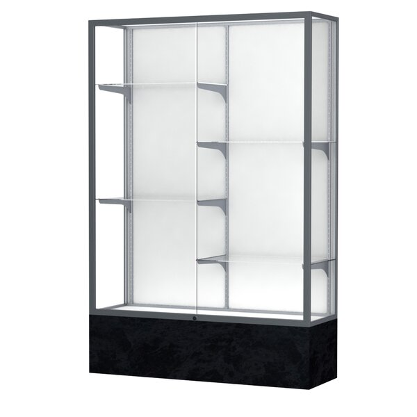 Monarch Series Lighted Floor Display Case by Wadde
