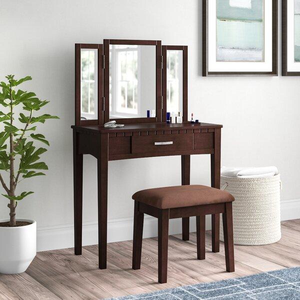 Gracie Vanity Set with Mirror by Hokku Designs
