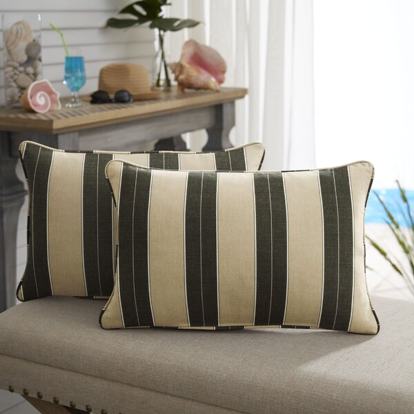 Dawn Knife Edge Indoor/Outdoor Sunbrella Lumbar Pillow (Set of 2) by Darby Home Co