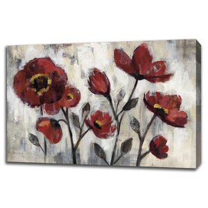 'Floral Simplicity' Painting Print on Canvas by Tangletown Fine Art