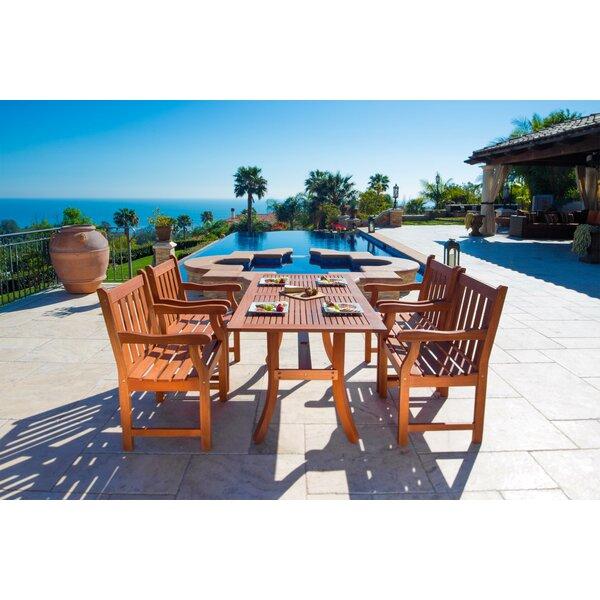 Monterry 5 Piece Dining Set By Beachcrest Home
