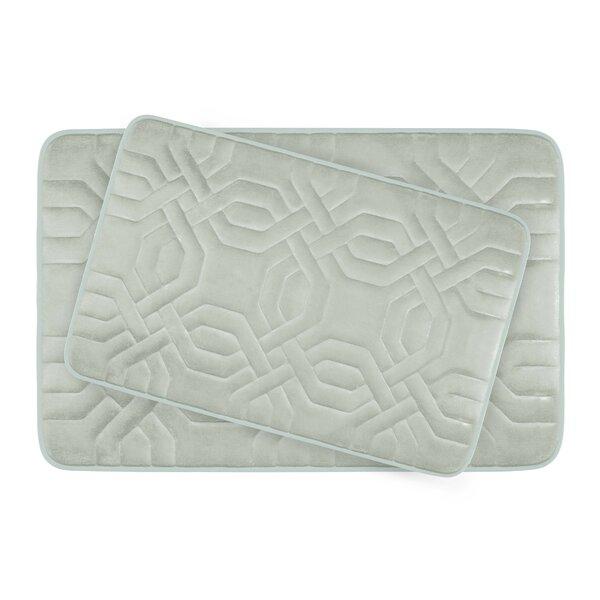 Ernie Large Premium Micro Plush Memory Foam Bath Mat Set (Set of 2) by Willa Arlo Interiors